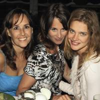 Sarah Manley, Tracy Portman and Natalia Vodianova