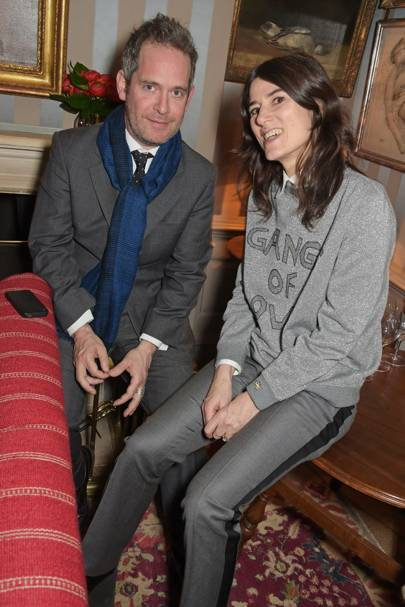 Tom Hollander and Bella Freud