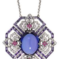 Tanzanite and amethyst pendant, POA, Ritz Fine Jewellery