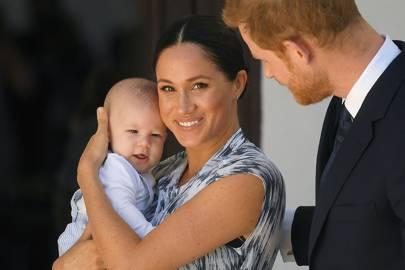El duque y la duquesa de Sussex con su hijo Archie.