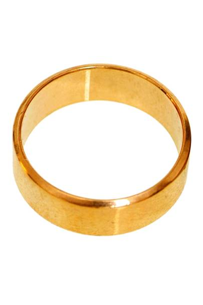You only wear a plain wedding band. No solitaires. Nothing to prove.