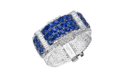 Art-deco sapphire bracelet by Van Cleef & Arpels