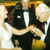 Mrs John Asprey, John Asprey and Sir Denis Thatcher