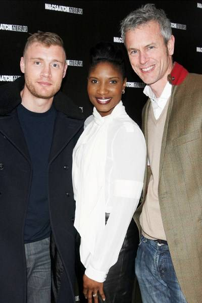 Andrew Flintoff, Denise Lewis and Mark Foster