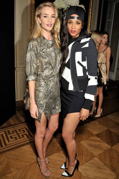 Rosie Huntington-Whiteley and Ciara