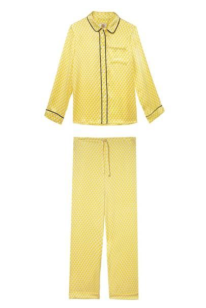 Silk pyjamas, £280, Yolke