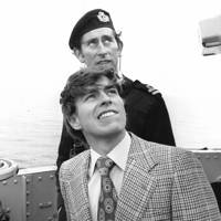 Prince Charles in 1976, aged 28, and Prince Andrew, aged 16