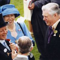 Brigadier Andrew Parker Bowles, the Princess Royal and Charles Benson