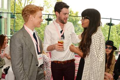 Freddie Fox, Jack Whitehall and Jameela Jamil