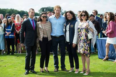 Philippe Leopold Metzger, Catherine Metzger, Prince Harry, Lorenza Cavalli and Heidi Kingstone