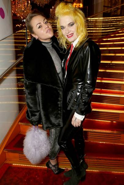 Jaime Winstone and Pam Hogg