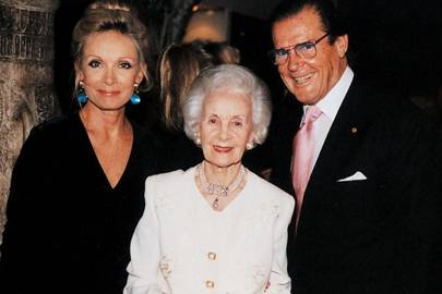 Mrs Roger Moore, Princess Lilian of Sweden and Roger Moore