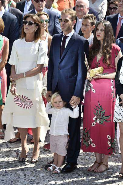 Princess Caroline of Hanover, Andrea Casiraghi, Sacha Casiraghi and Tatiana Casiraghi
