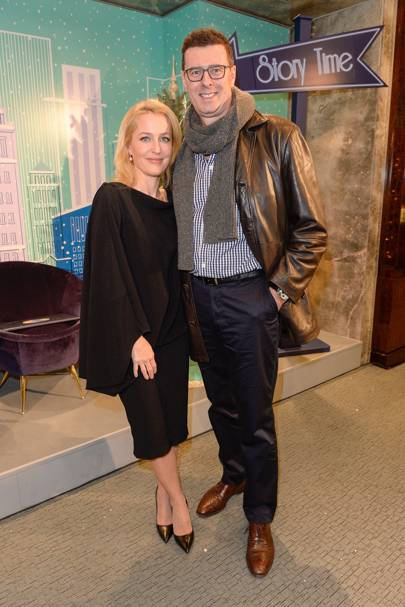 Gillian Anderson and Barrett West
