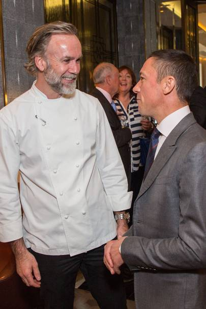 Marcus Wareing and Frankie Dettori