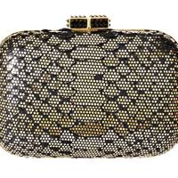 Snakeskin clutch, £475, by Aspinall