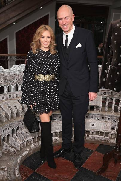 Kylie Minogue and Dylan Jones