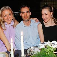 Hermione Underwood, Haris Khan and Tatiana Mountbatten