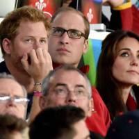 Prince Harry, the Duke of Cambridge and the Duchess of Cambridge