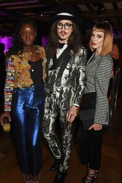 Eunice Olumide, Joshua Kane and Francesca Merricks