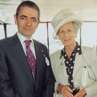 Rowan Atkinson and the Duchess of Richmond and Gordon