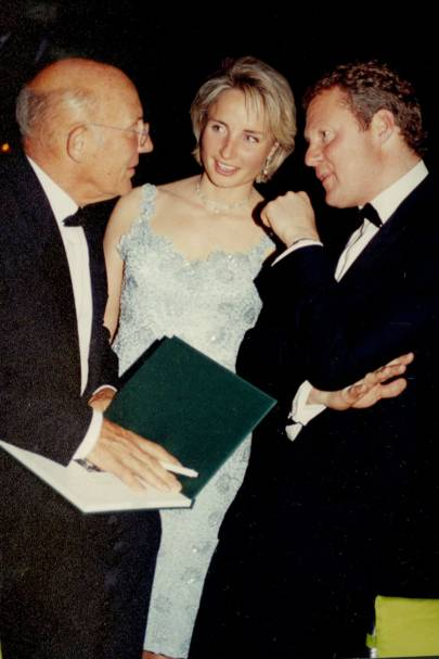 Sir Stirling Moss, Mrs Rory Bremner and Rory Bremner