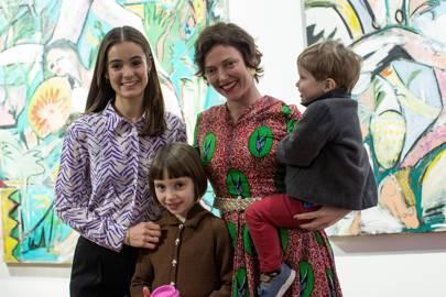 Olivia Callaghan, Nancy Burns, Camilla Rutherford and Blaise Burns
