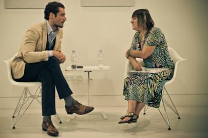 David Gandy and Hilary Alexander