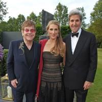 Sir Elton John, Vanessa Kerry and John Kerry