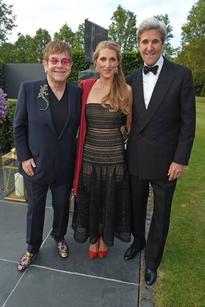 Sir Elton John, Vanessa Kerry and John Kerry