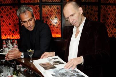 Alphan Eseli and Ralph Fiennes