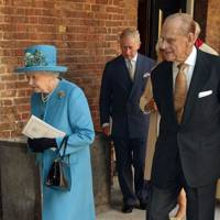 The Queen, the Prince of Wales and Prince Philip