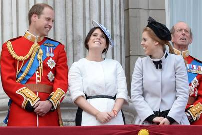 The Duke of Cambridge, Princess Eugenie and Princess Beatrice