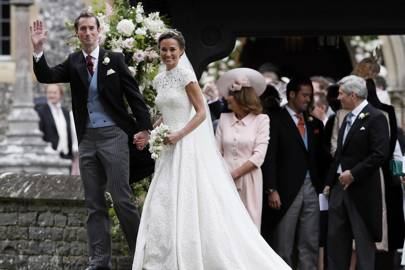 James Matthews, Pippa Middleton, Carole Middleton, Spencer Matthews and Michael Middleton