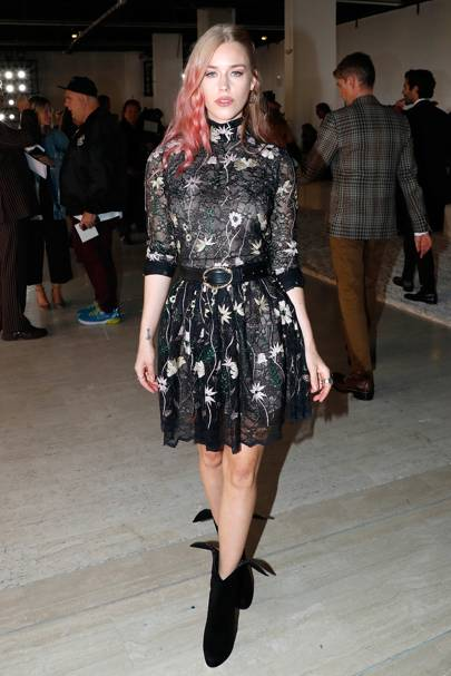 Lady Mary Charteris at the Giambattista Valli show.