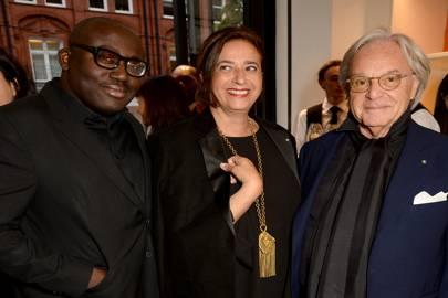 Edward Enninful, India Mahdavi & Diego Della Valle
