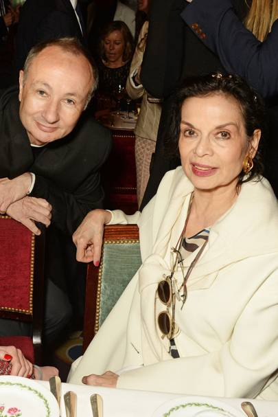 Bianca Jagger and Fenton Bailey