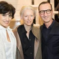 Inès de la Fressange, Tinda Swinton and Bruno Frisoni