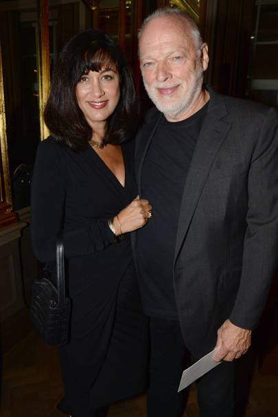 Polly Samson and David Gilmour