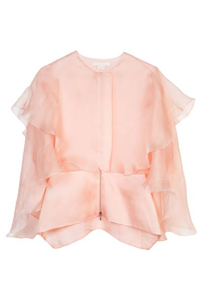 Silk top, £616, by Antonio Berardi