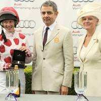 Philippa Holland, Rowan Atkinson and Lady March