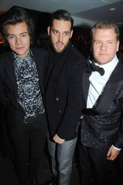 Harry Styles, Ben Winston and James Corden