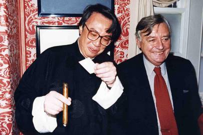 Sir David Tang and Mark Birley, 1995