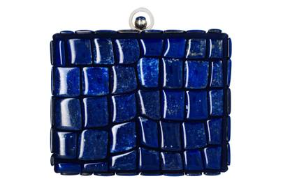 Suede & Lapis clutch, £7,500 by Asprey