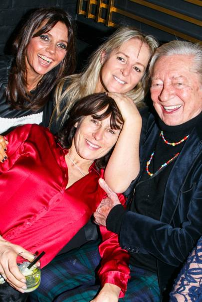 Countess Debonnaire von Bismarck, Liz Moberly, Lulu Hutley and Jeremy Lloyd