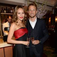 Jessica Michibata and Jenson Button