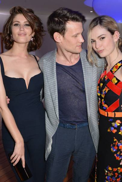 Gemma Arterton, Matt Smith and  Lily James