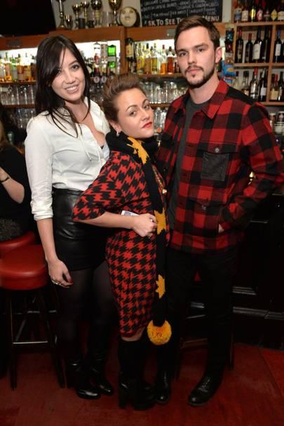 Daisy Lowe, Jaime Winstone and Nicholas Hoult