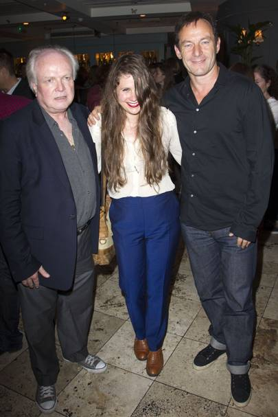 Michael Attenborough, Lucy Kirkwood and Jason Isaacs