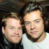 James Corden and Harry Styles